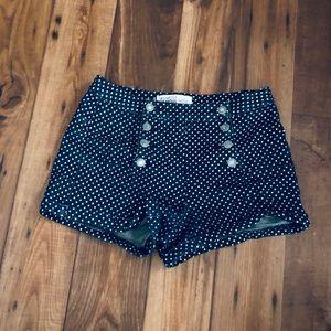 Navy White Polka Dots Shorts